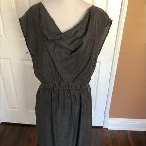Coldwater Creek grey silk dress